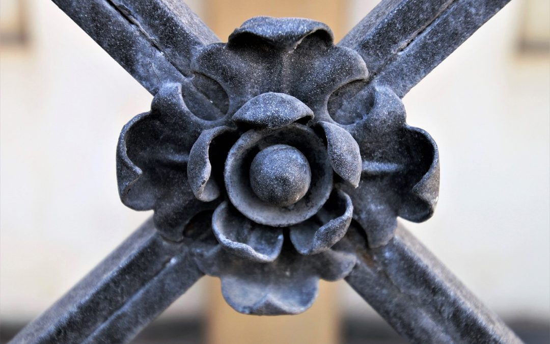 Patterson park giant metal flower